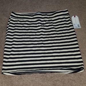 NWT Adam Levine Striped Bodycon Skirt